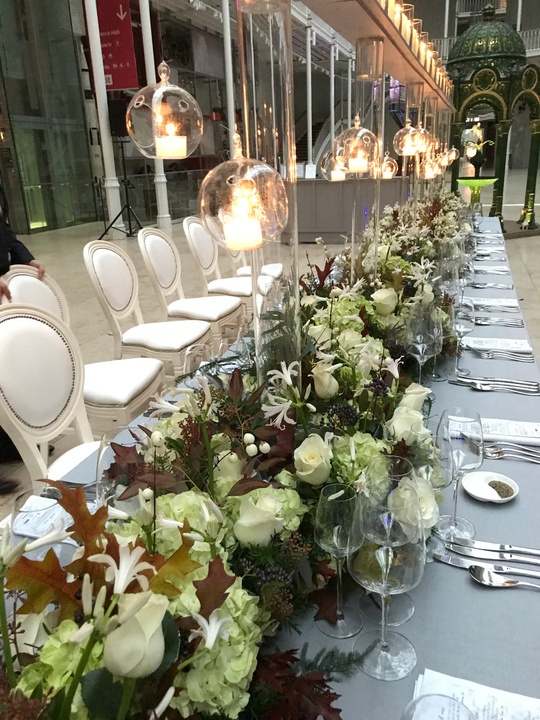 Long Autumn Tablescape